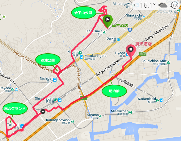 神戸兵庫区長田区マラソンコース